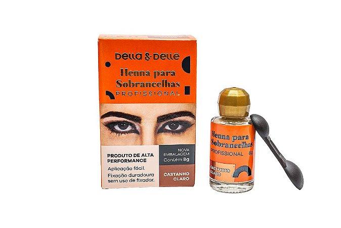HENNA SOBRANCELHA CASTANHO CLARO 8G