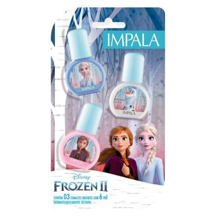 Impala Disney Frozen 2 Kit – Esmalte Viva sua Verdade + Esmalte Ame a Vida + Esmalte Seja Corajosa