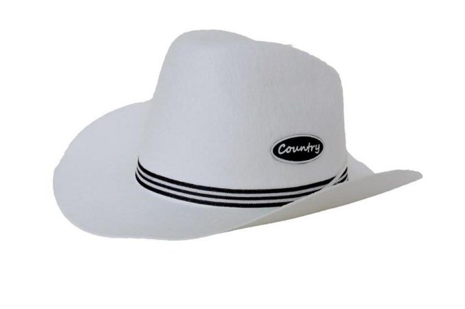 Chapeu Cowboy Country Adulto Branco