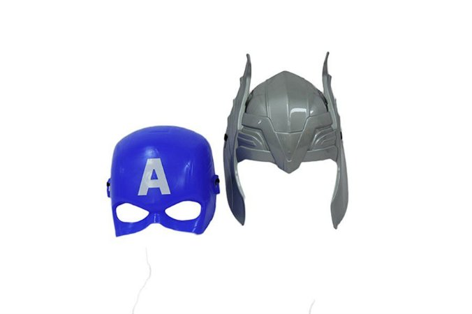 Kit 2  Máscaras Thor e Capitão America Vingadores Avengers