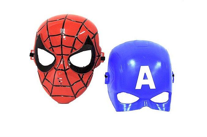 Máscara Homem Aranha e Capitão América Vingadores Avengers