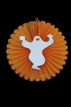 Balão Leque Halloween Laranja