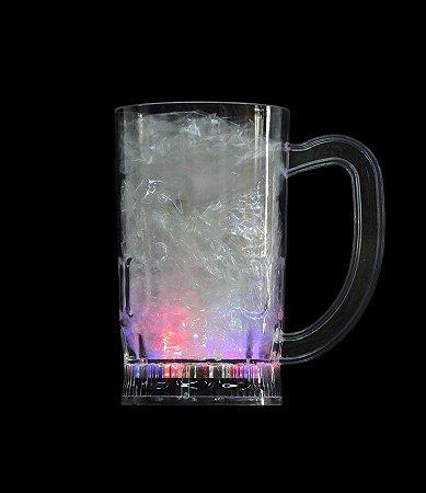 Caneca Plástico Pisca Transparente