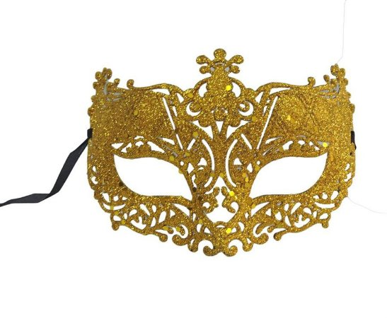 Mascara Glitter Carnaval Ouro