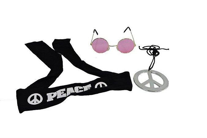 Kit Hippie com Oculos Rosa