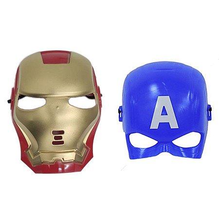 Mascara Homem De Ferro E Capitão America Vingadores Heroi