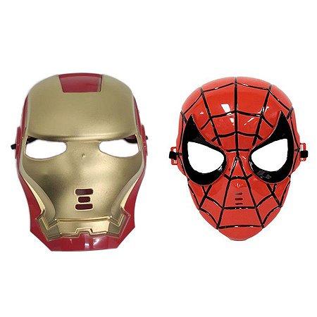 Mascara Homem De Ferro E Homem Aranha Vingadores Herois