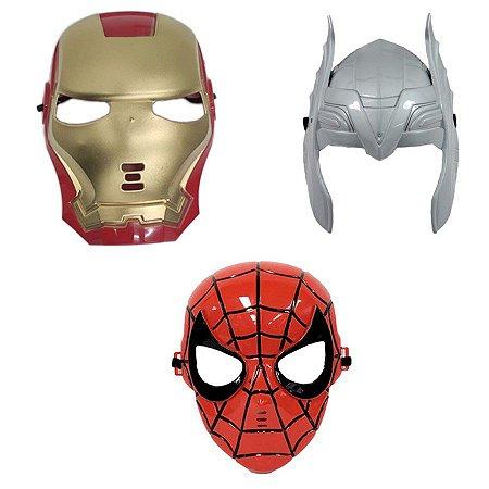 Mascara Homem De Ferro Thor E Homem Aranha Vingadores Heróis