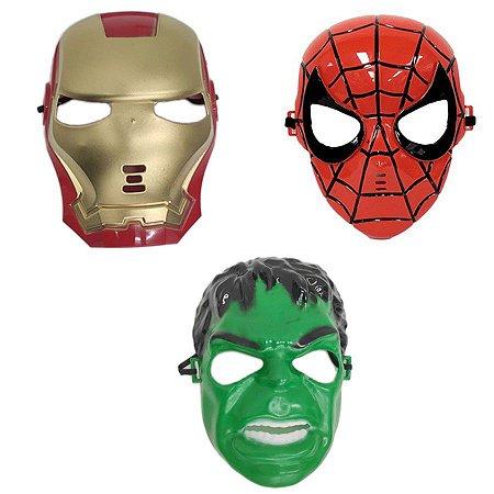 Mascara Homem De Ferro Homem Aranha E Hulk Vingadores Herois