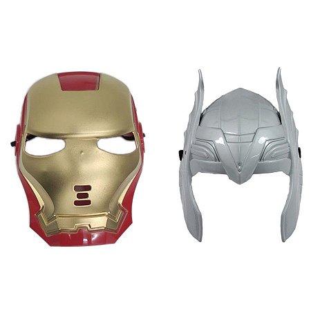 Mascara Homem De Ferro E Thor Vingadores Super Heróis
