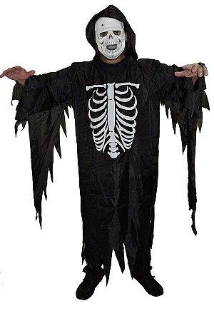Fantasia Caveira Esqueleto Adulto