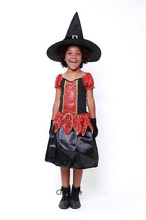 Fantasia Bruxa Infantil ( Kit 3 Peças )