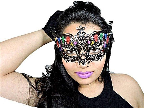Mascara Veneza Baile De Gala Colorida