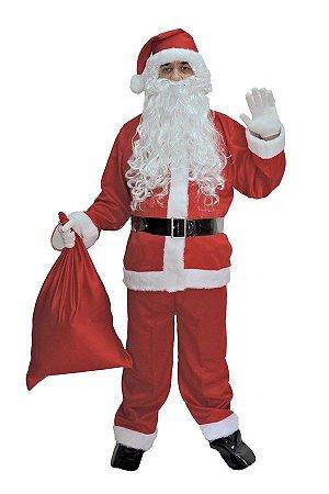 Fantasia Papai Noel Adulto - Kit 7 peças