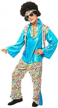 Fantasia anos 70 Hippie colete luxo adulto