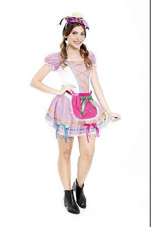 Vestido Festa Junina Caipira Adulto