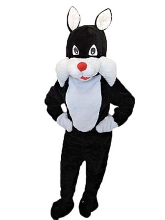 Fantasia Mascote Frajola Gato Adulto