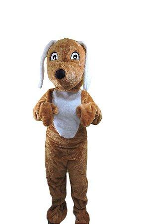 Fantasia Cachorro Mascote Caramelo Pelucia
