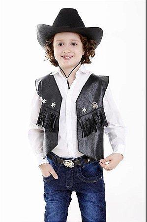 Colete E Chapeu Cowboy Country Infantil