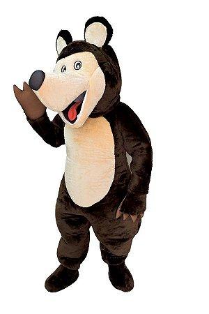 Fantasia Urso Masha Mascote Adulto