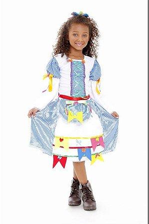 Vestido Caipirona Infantil Azul