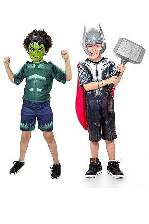 Fantasia Thor Ragnarok e Hulk Infantil Vingadores Avengers
