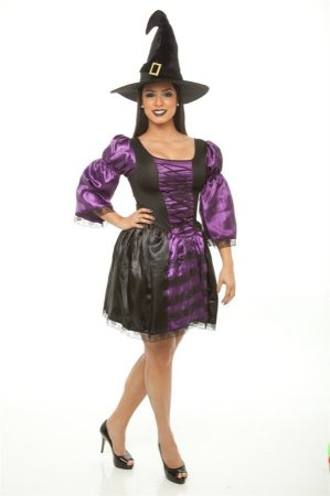 Fantasia Bruxa Halloween Adulto