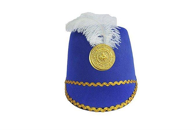 Chapéu Paquita Azul Penas