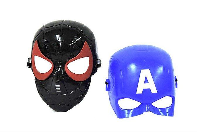 Kit 2 Máscaras Homem Aranha e Capitão América Avengers