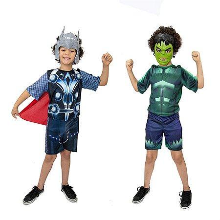 Fantasia Thor e Hulk Vingadores Avengers