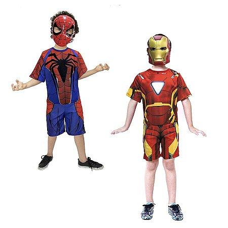 Fantasia H.Aranha e H.de Ferro Vingadores Avengers