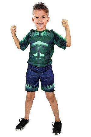 Fantasia Hulk Infantil Sem Mascara Heróis