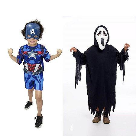 Fantasia Capitão America E Panico Halloween Infantil