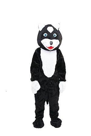 Mascote Gato Preto Pelúcia