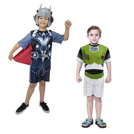 Fantasia Thor Vingadores C/ Mascara E Buzz Lightyer Infanti