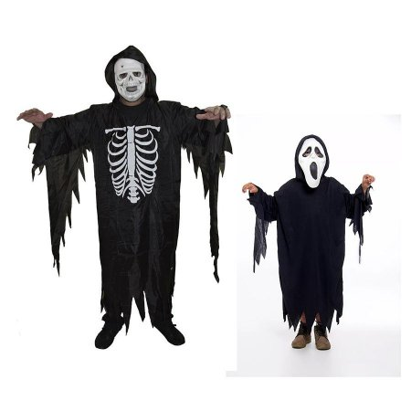 Fantasia Caveira Adulto E Panico Infantil Halloween