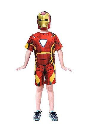 Fantasia Homem De Ferro Super Heroi Infantil Avengers Iron