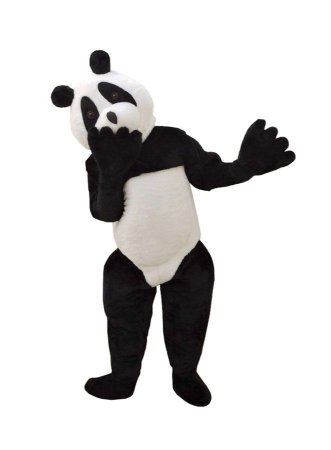 Fantasia Mascote Urso Panda Pelucia Adulto Boneco De Vestir