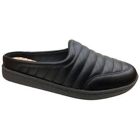 Sapato Feminino Babouche Modare Np Pele Strech - 7363.100 - Preto