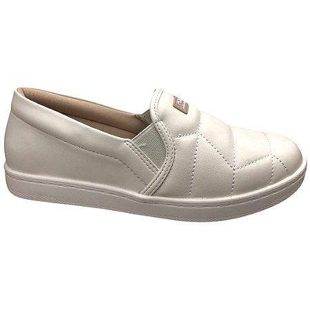 Tênis Feminino Modare Casual Np Pele Strech - 7363.104 - Branco Off