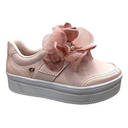 Tênis Menina Infantil Pink Cats Casual Mandang Rosa Bergamo Iogurte Cacha Rel Rosa Petala - V1203 - Rosa