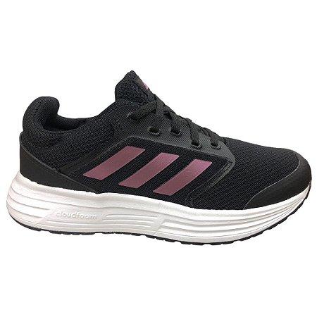 Tênis Feminino Adidas Galaxy 5 Course A Pied - FY6743 - Preto-Roxo