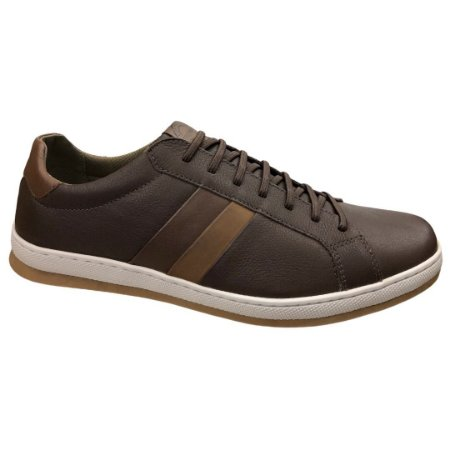 Sapatênis Masculino Freeway Casual Couro Angel Malbec - AGER-3249 - Marrom