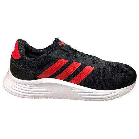Tênis Masculino Adidas Lite Racer 2.0 Course A Pied - FZ0391 - Preto/Vermelho