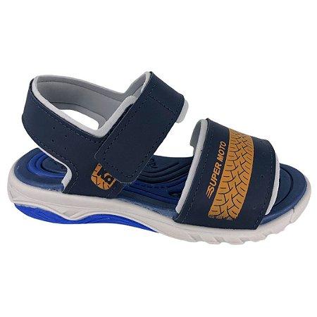 Sandália Infantil Menino Kidy Papete Wave Moto - 021-0545-1532 - Marinho-Azul-Laranja