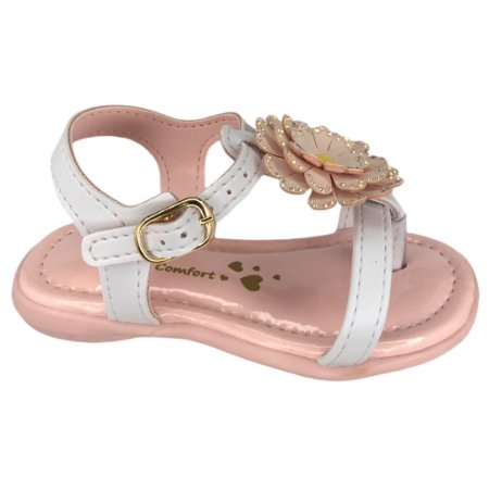 Sandália Infantil Menina Kidy Baby Mna Equilibrio - 002-0786-5609 - Branco-Nude