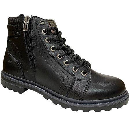Coturno Masculino Gogowear Couro - 7550.C - Preto