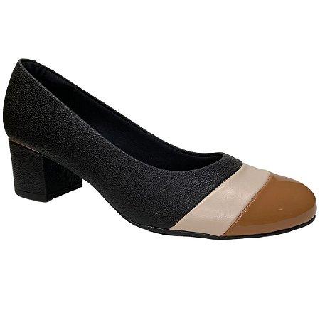 Sapato Feminino Modare Scarpin - 7316.232 - Preto-Camel-Creme