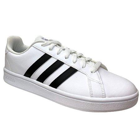 Tênis Adidas Masculino Grand Court Base - Branco - EE7904
