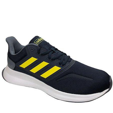 Tênis Masculino Adidas Runfalcon - EG8611 - Azul-Amarelo